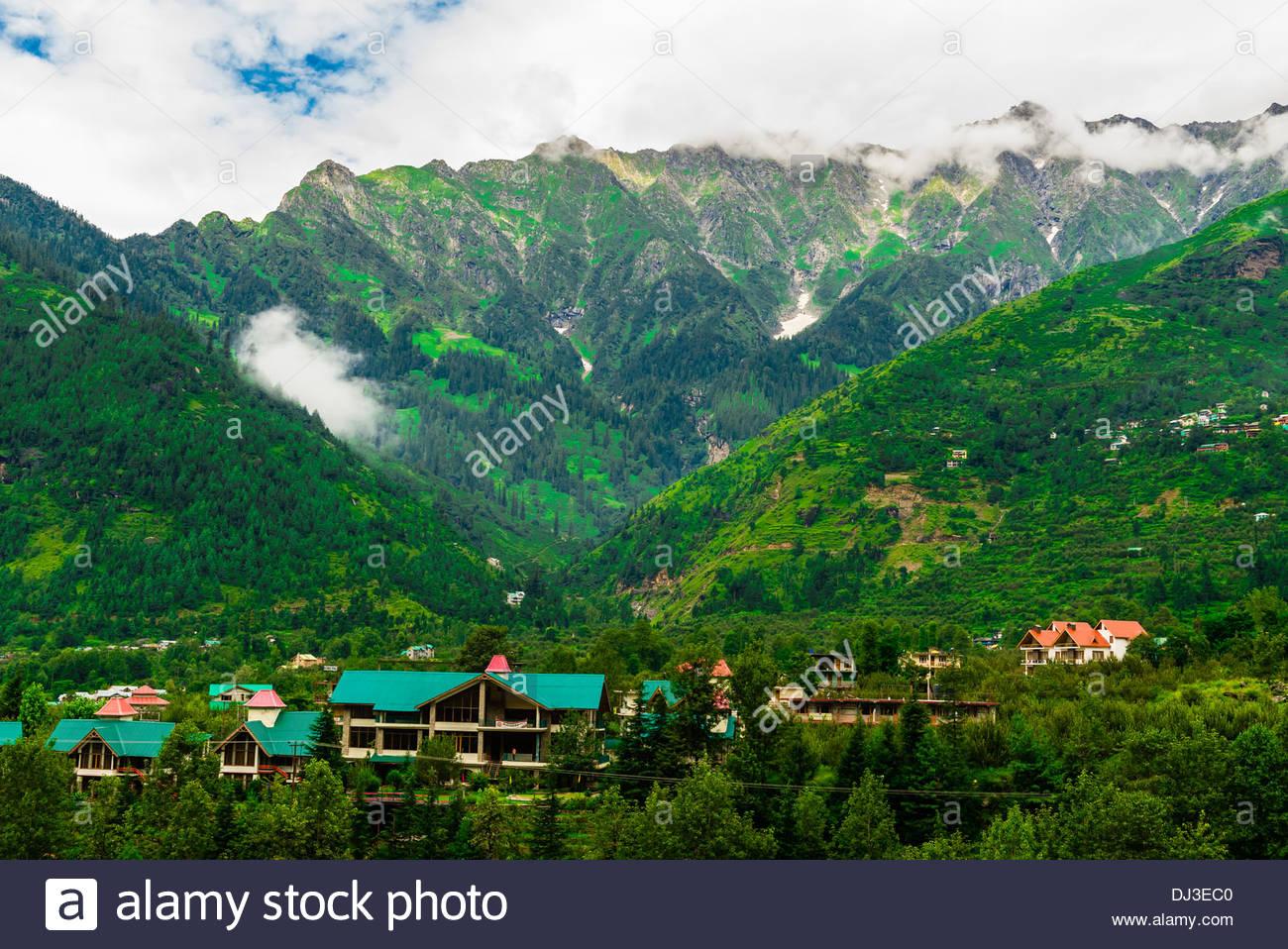 Bashisht, near Manali, Himachal Pradesh, India. - Stock Image
