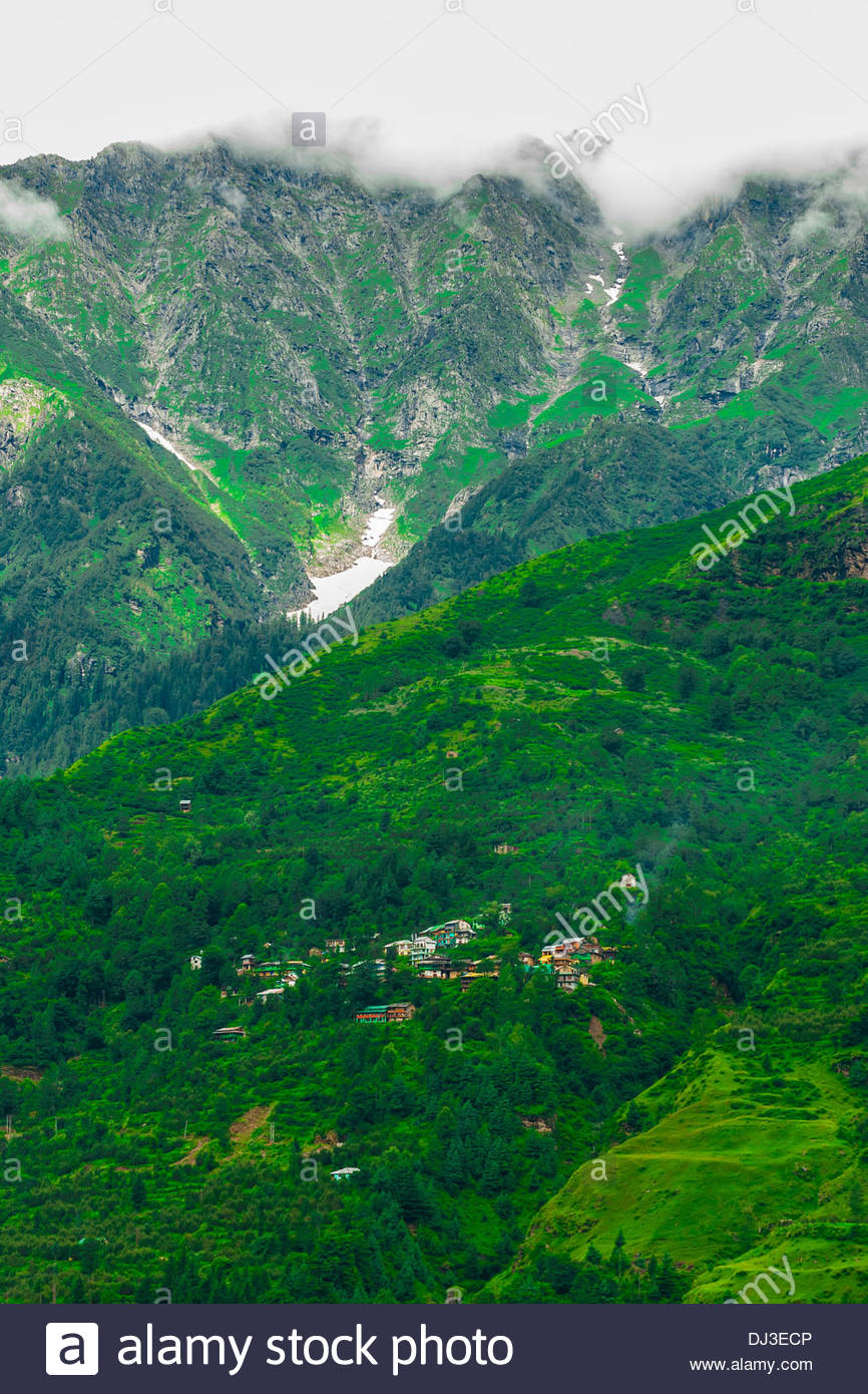 Near Manali, Himachal Pradesh, India. - Stock Image