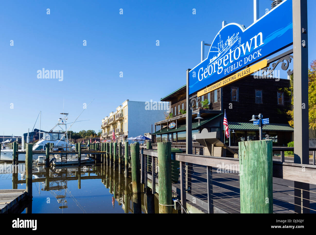 The waterfront in historic Georgetown, South Carolina, USA - Stock Image