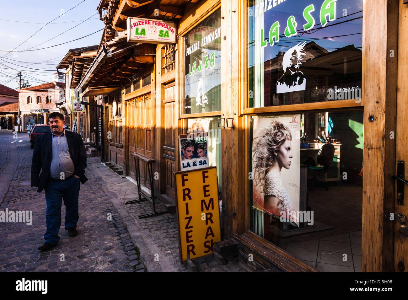 Old Bazaar, Gjakova, Kosovo Stock Photo