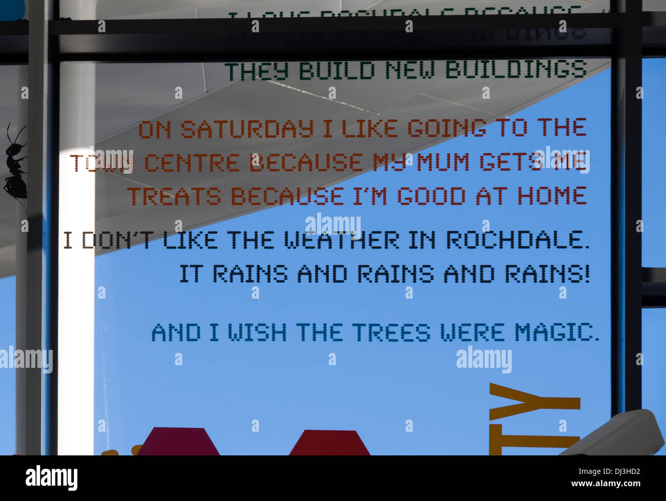 Childrens Quotes On A Window Transport Interchange Building Stock