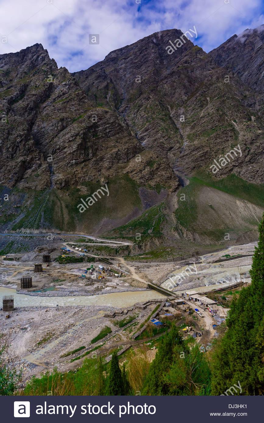 Leh-Manali Highway, Himachal Pradesh, India. - Stock Image