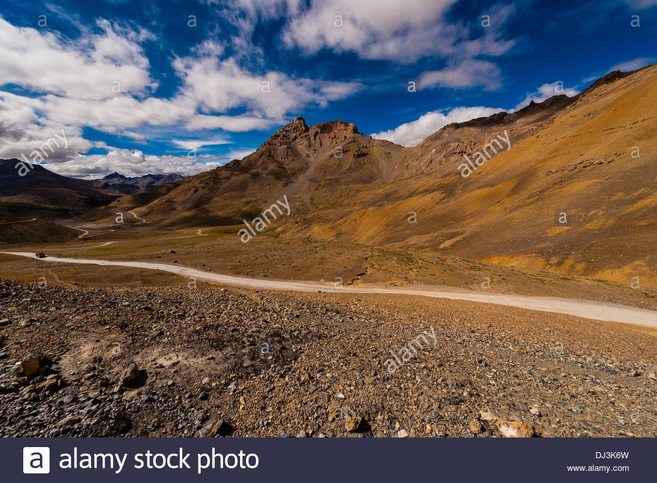 Leh-Manali Highway, Himachal Pradesh, India. - Stock Image