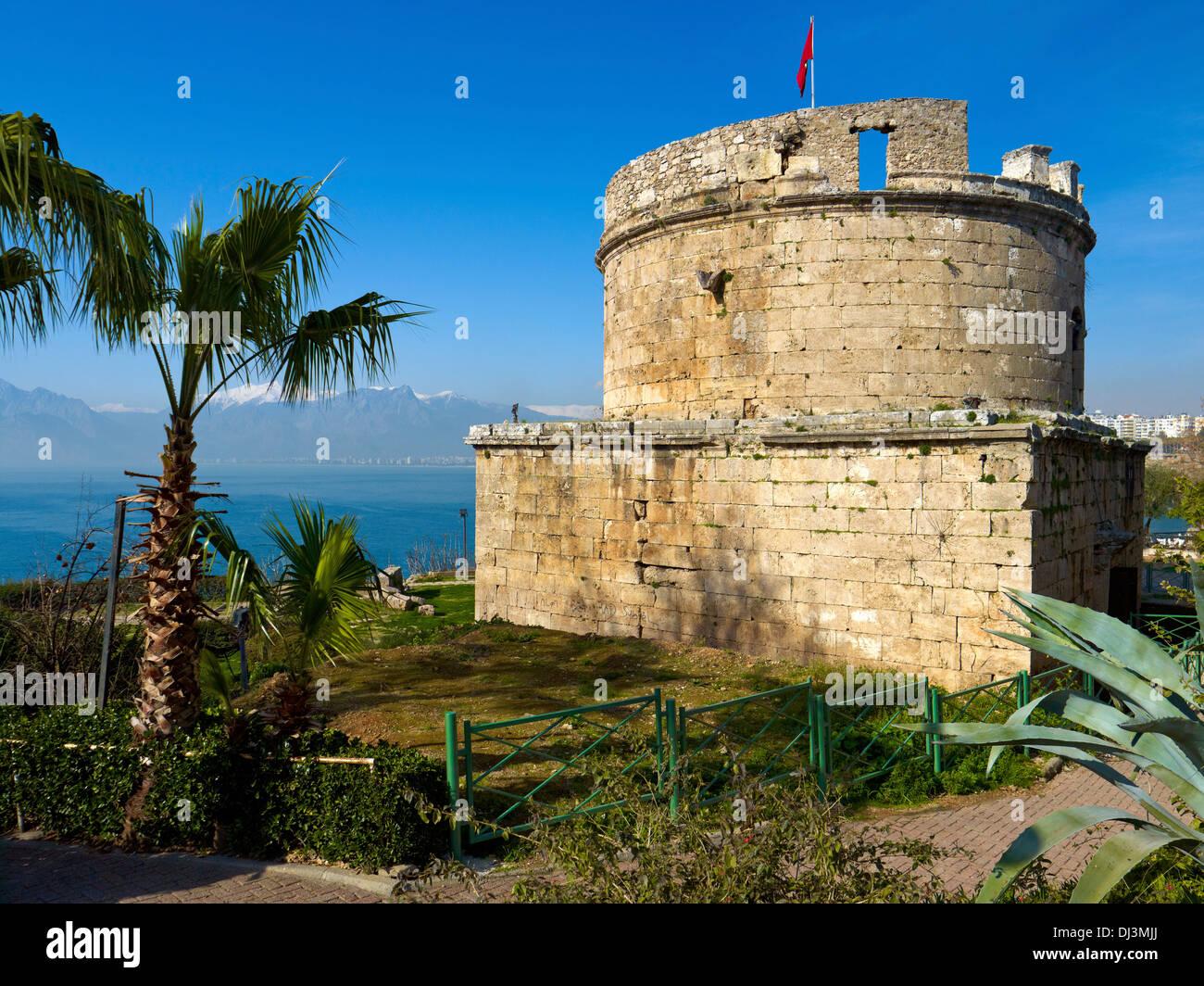 Roman tower, Antalya, Turkey - Stock Image