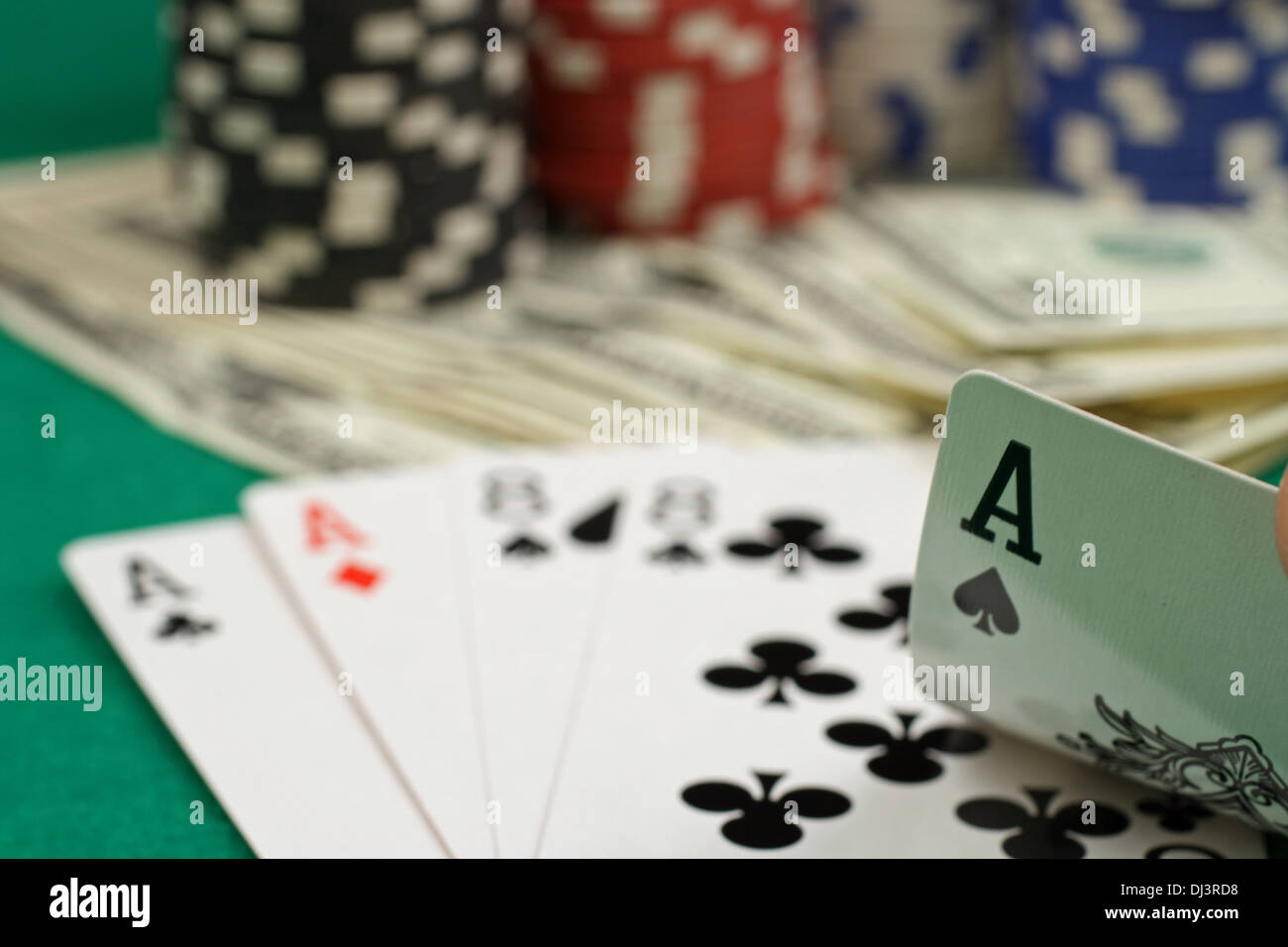 A scene from the poker table - Stock Image