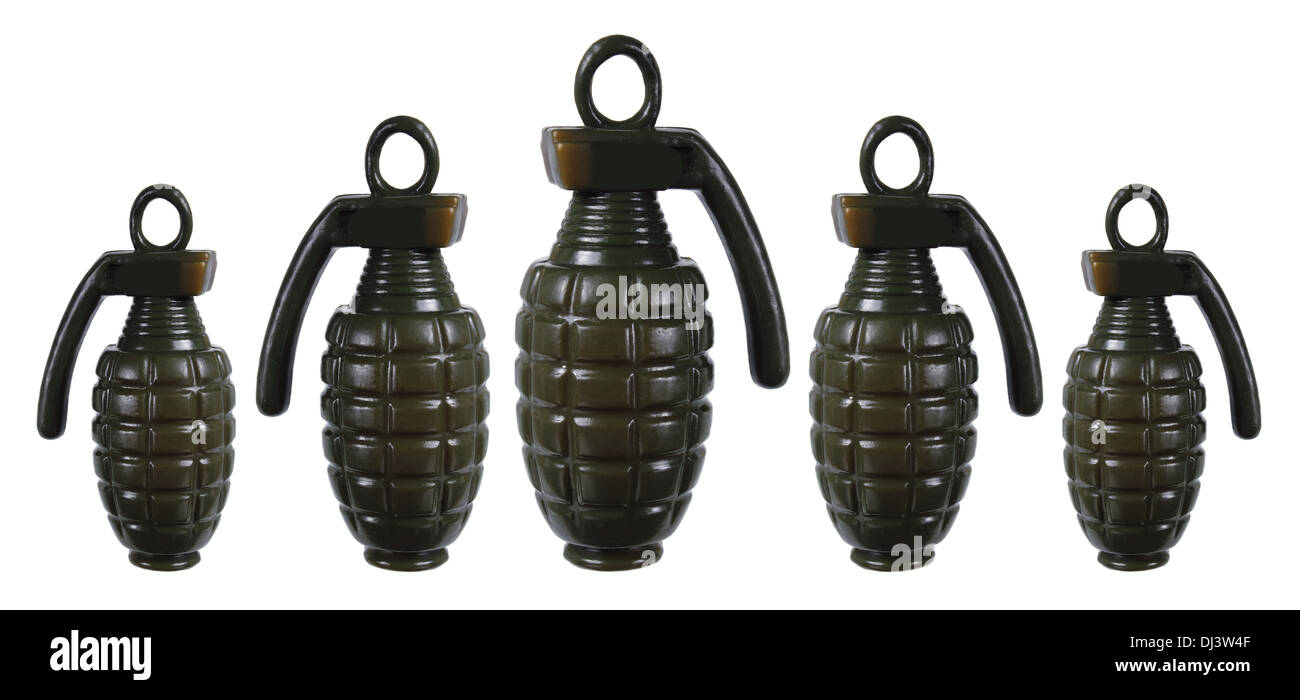 Toy Hand Grenades - Stock Image