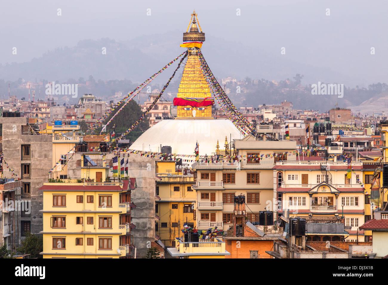 Bodhnath Stupa, Kathmandu, Nepal Stock Photo