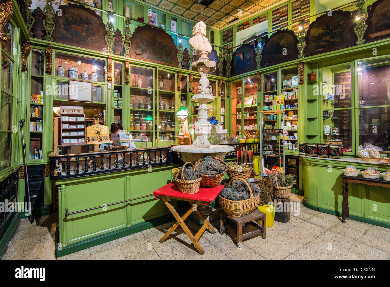 Herboristeria del Rei, an historical herbal shop dated 19th century in Barcelona, Catalonia, Spain - Stock Image