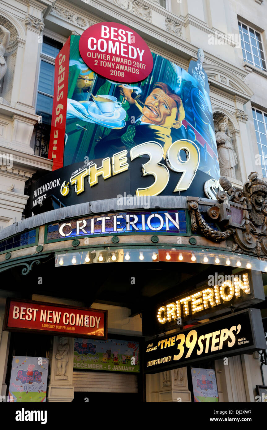 London, England, UK. Criterion Theatre, Piccadilly Circus. (2013) The 39 Steps - Stock Image