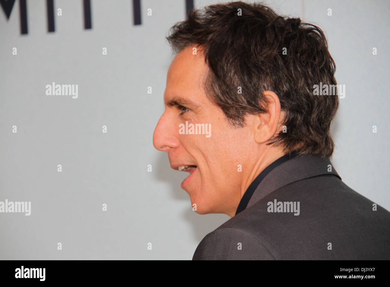 Sydney Entertainment Centre, Sydney, NSW, Australia. 21st November 2013.  Ben Stiller (Zoolander, Meet The Parents) and Kristen Wiig (Bridesmaids) attended the red carpet Australian Premiere of The Secret Life of Walter Mitty. Pictured is Ben Stiller. Copyright Credit:  2013 Richard Milnes/Alamy Live News. - Stock Image