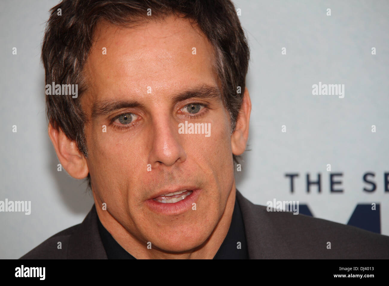 Sydney Entertainment Centre, Sydney, NSW, Australia. Ben Stiller (Zoolander, Meet The Parents) and Kristen Wiig (Bridesmaids) attended the red carpet Australian Premiere of The Secret Life of Walter Mitty. Pictured is Ben Stiller. Copyright Credit:  2013 Richard Milnes/Alamy Live News. - Stock Image