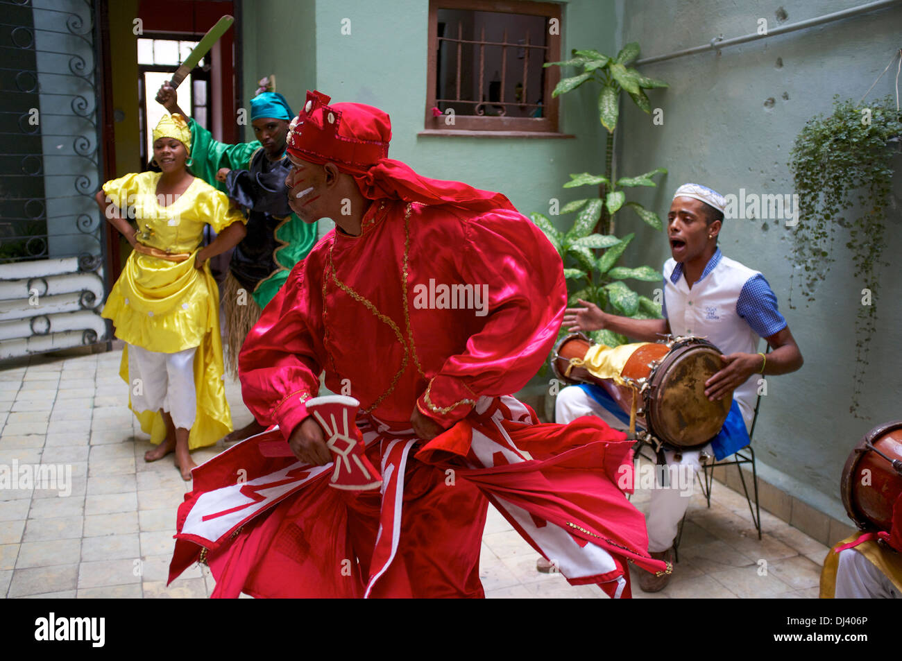 Afro-Cuban dance group, Cuba - Stock Image