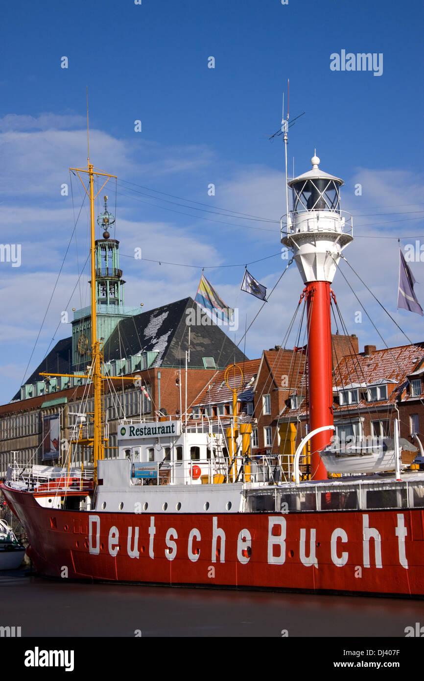 Age inland port in Emden - Stock Image