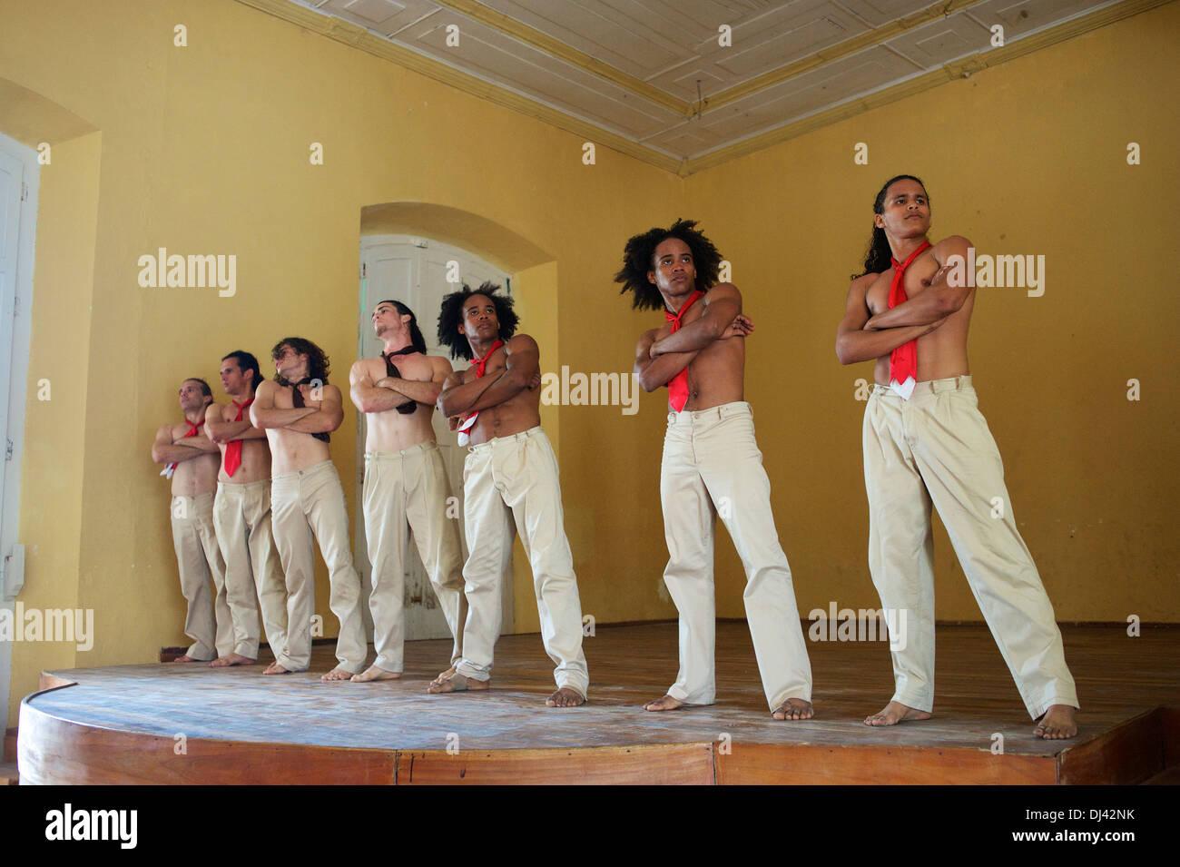 Cuban dance troupe, Gibara, Cuba - Stock Image