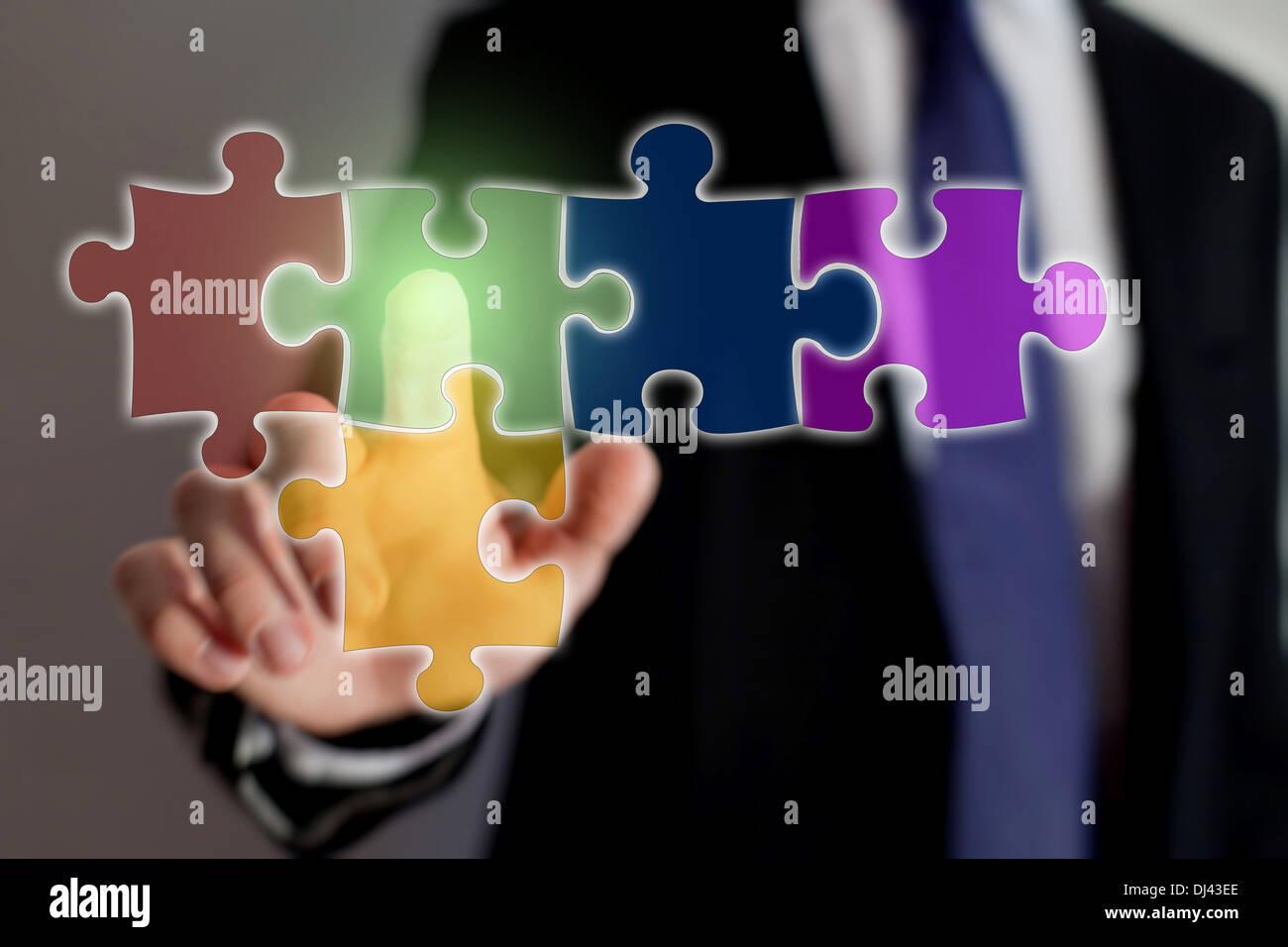 multimedia technology - Stock Image