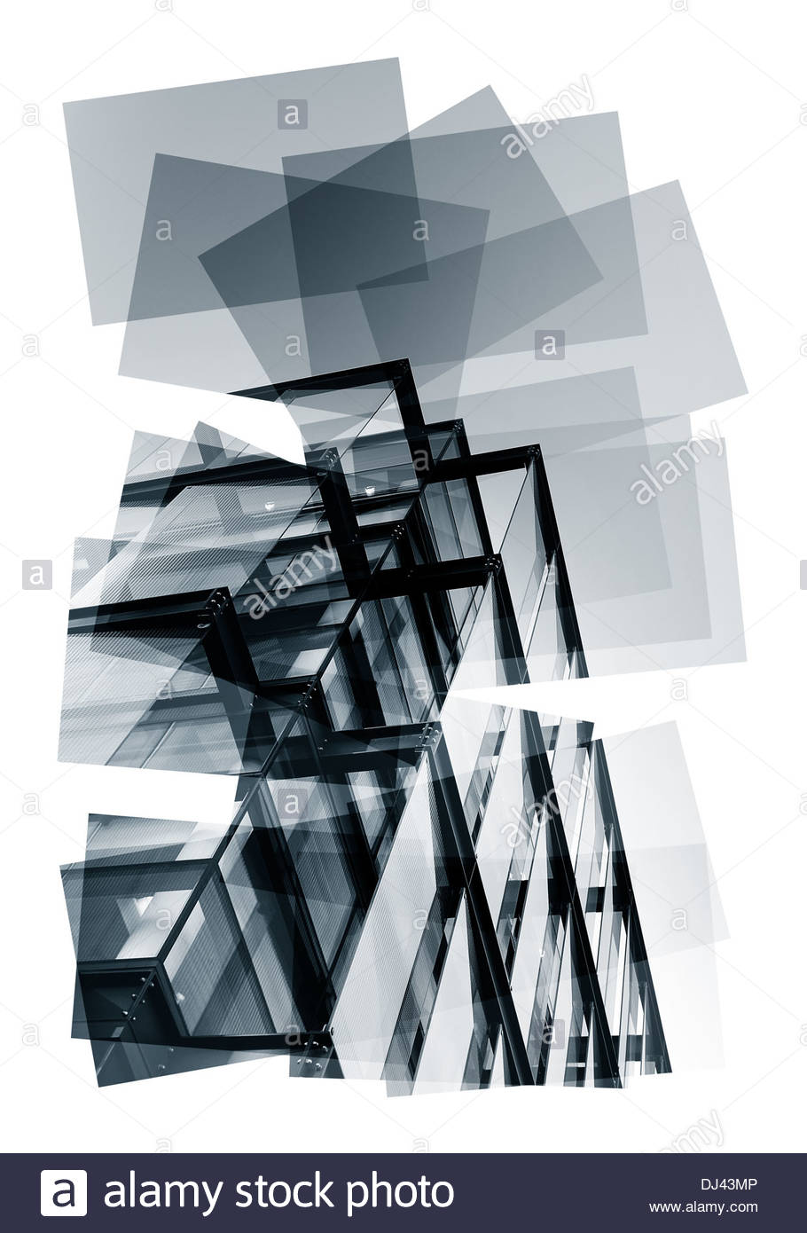 modern architecture abstract - Stock Image