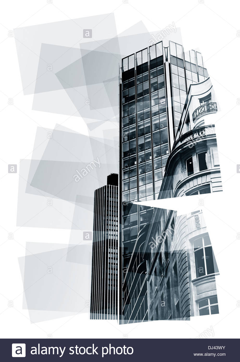 buildings abstract - Stock Image
