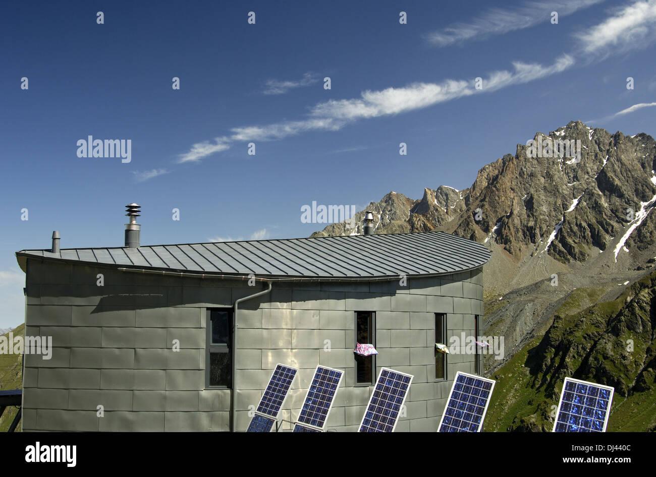 at the Cabane du Velan in the Pennine Alps Stock Photo