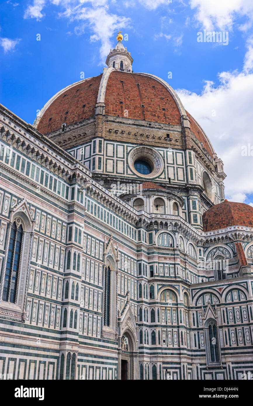 The Basilica di Santa Maria del Fiore (Basilica of Saint Mary of the Flower) is the main church of Florence, Italy. - Stock Image