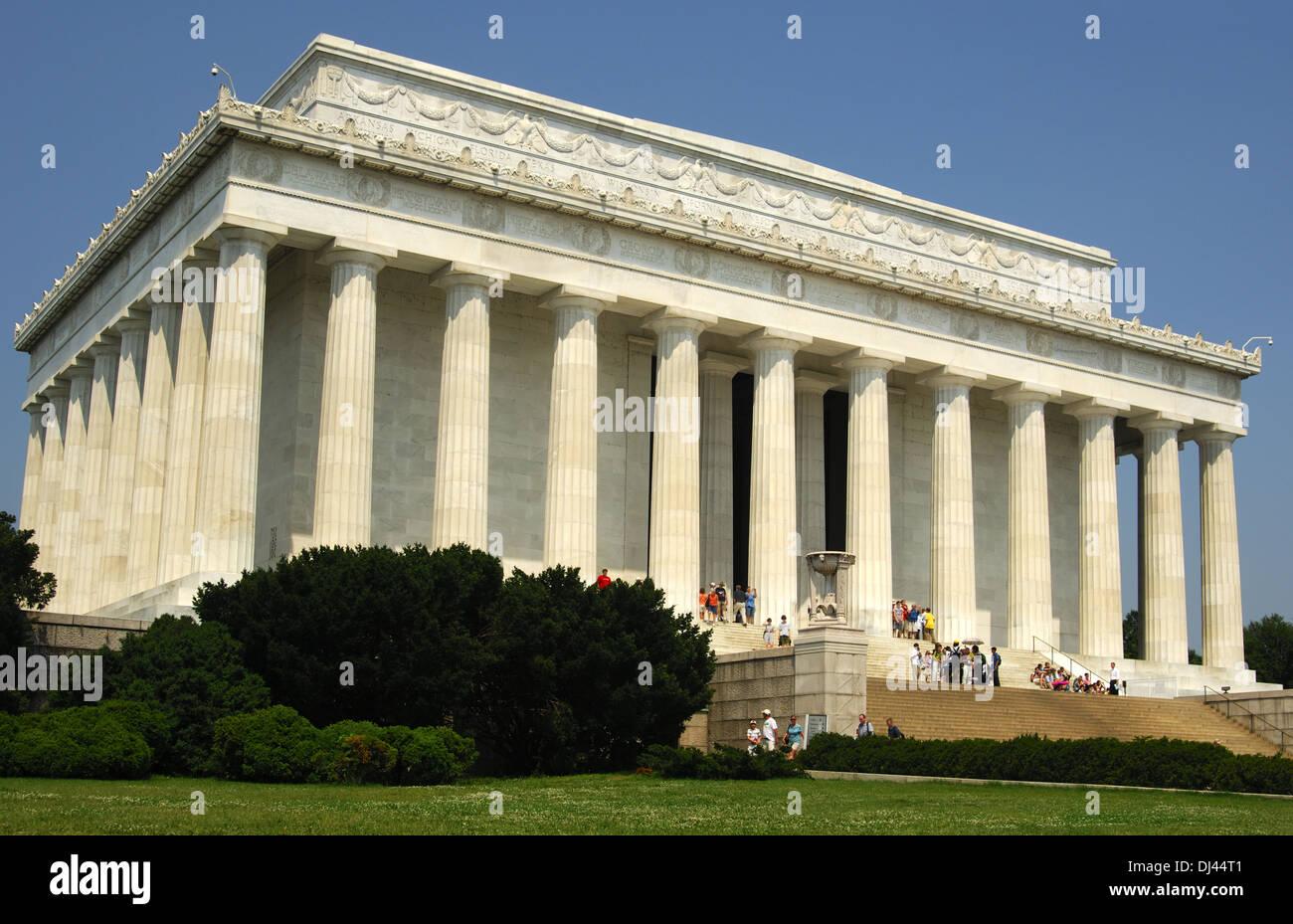 Lincoln Memorial, Washington D.C., USA, Stock Photo