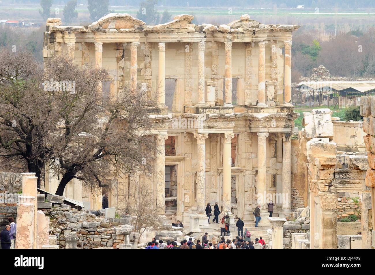 Ephesus Celsus Library Stock Photo