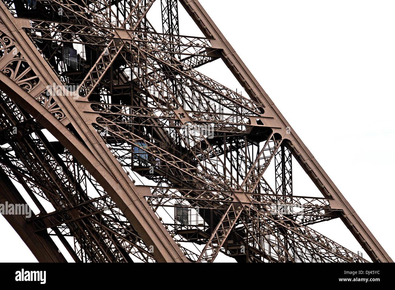 Eiffel tower Paris Ile-de-France France Europe - Stock Image