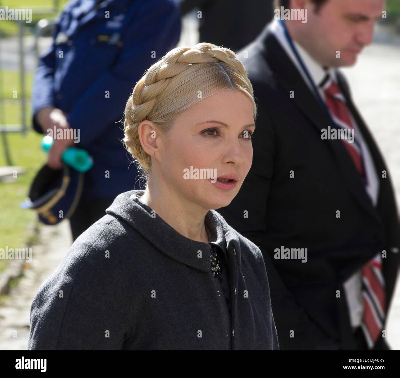 jailed former Ukrainian prime minister Yulia Tymoshenko - Stock Image