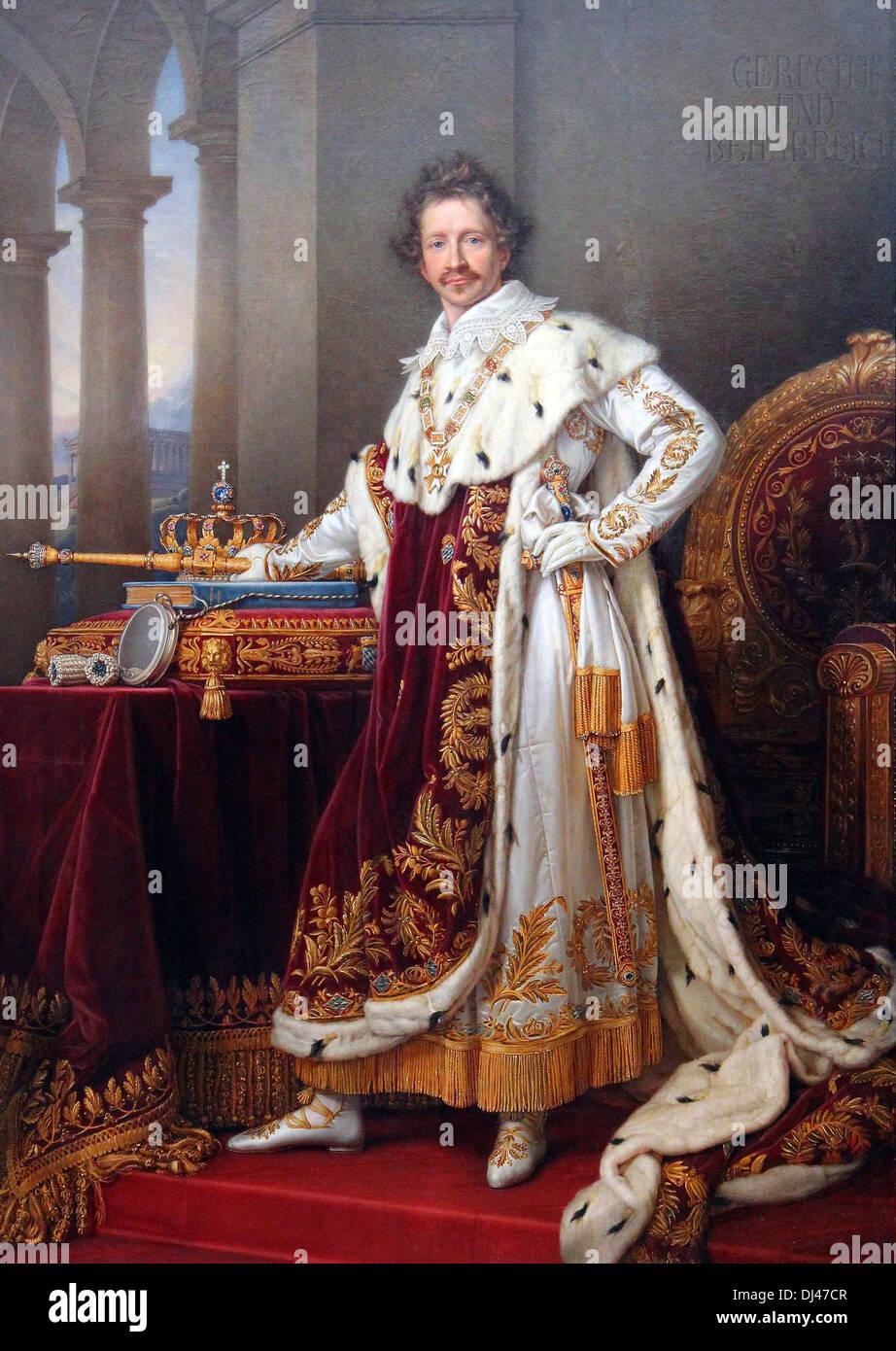 King Louis I of Bavaria, Ludwig I - Stock Image