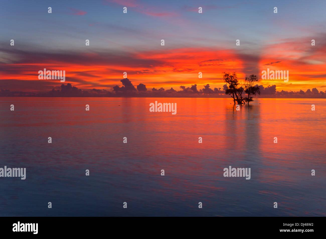 Sunrise at Havelock Island, Andaman India) - Stock Image