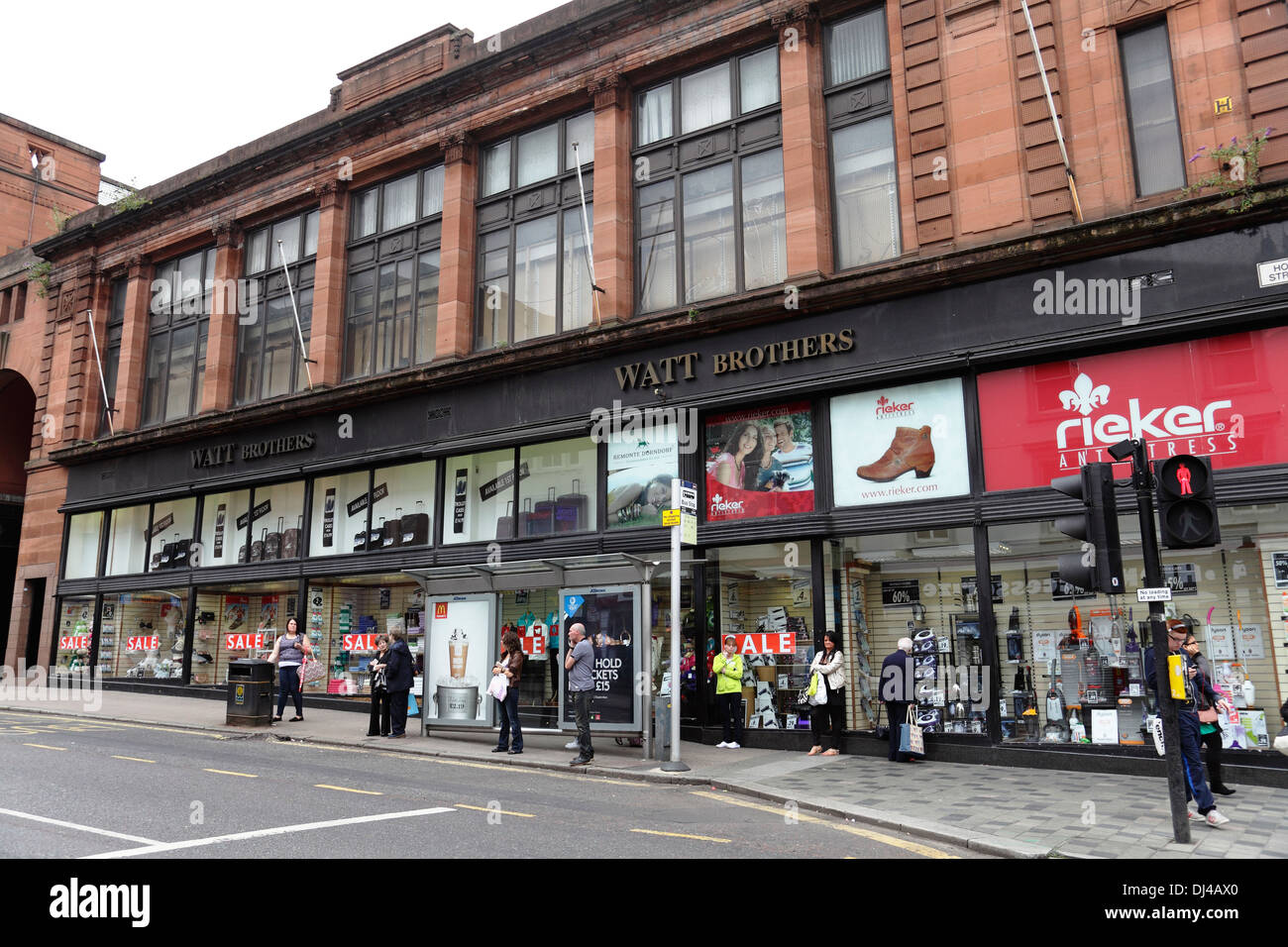 Watt Brothers department store on Hope Street in Glasgow city centre, Scotland, UK - Stock Image