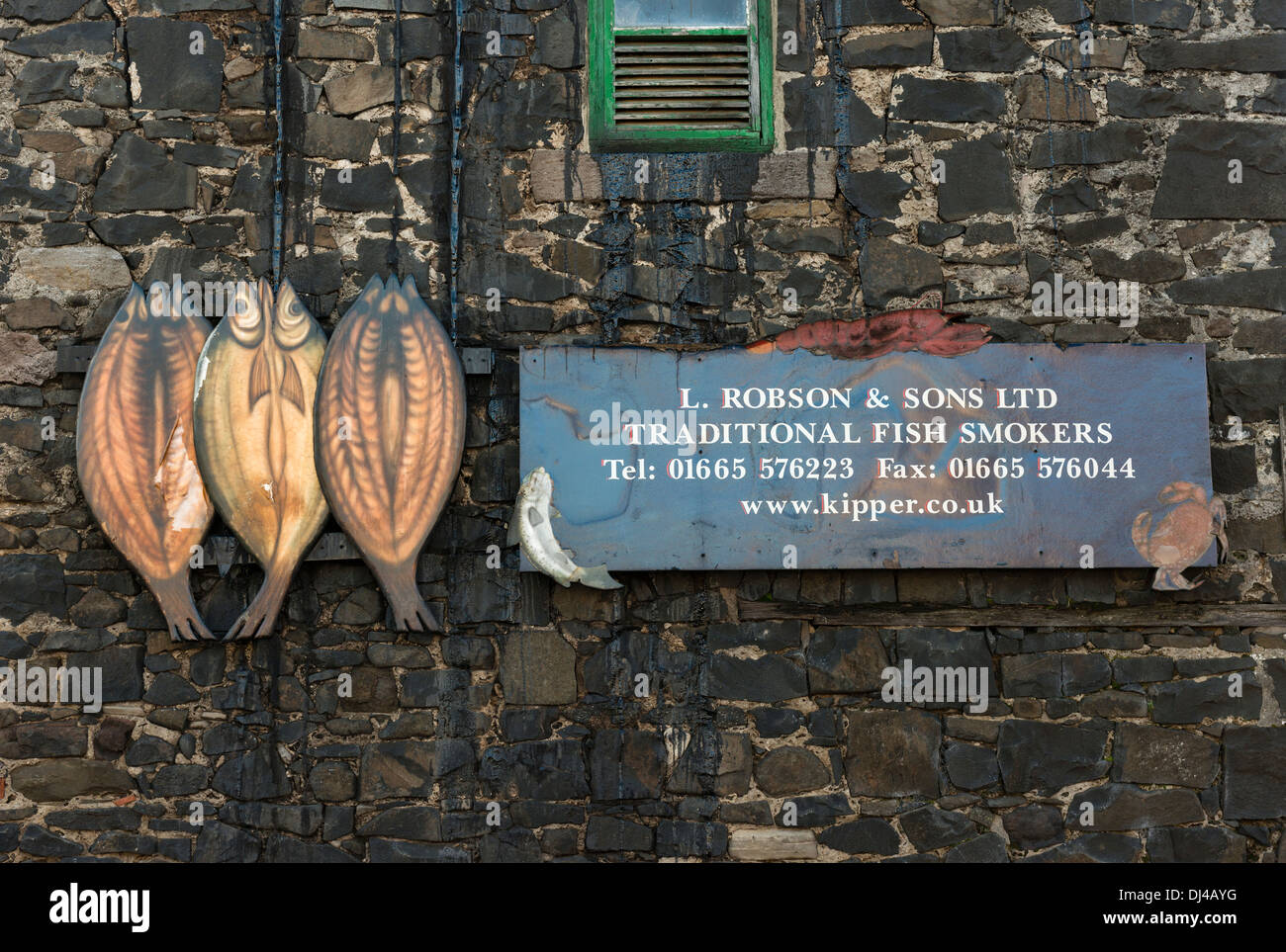 Craster Kipper Smokehouse - Stock Image