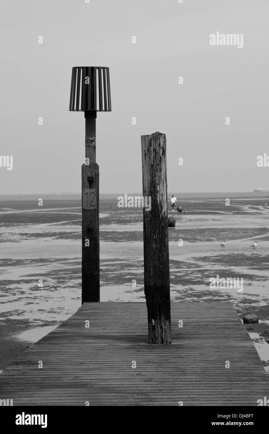 Warning on the beach - Stock Image