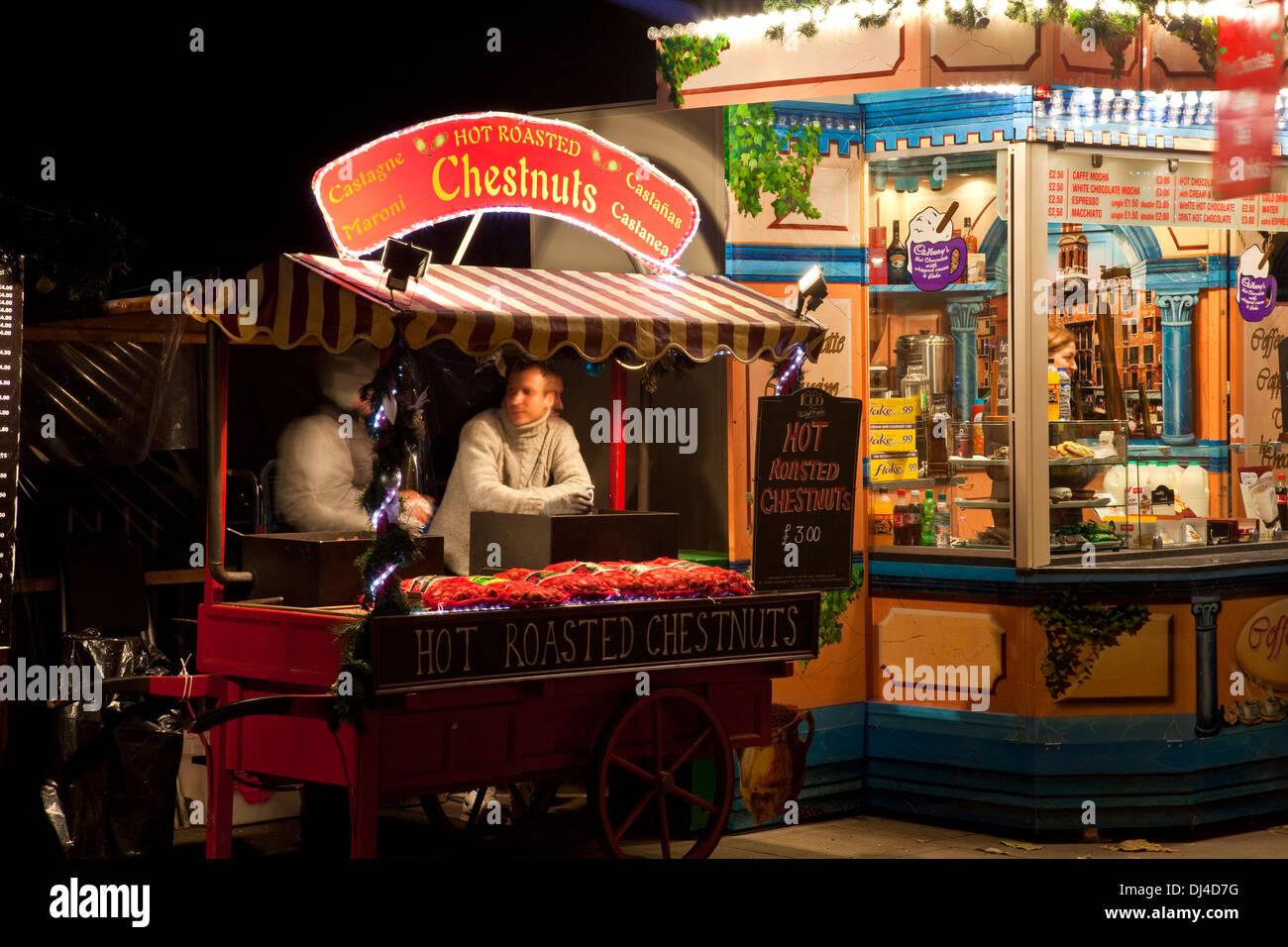 Christmas Market, The Southbank, London, England - Stock Image