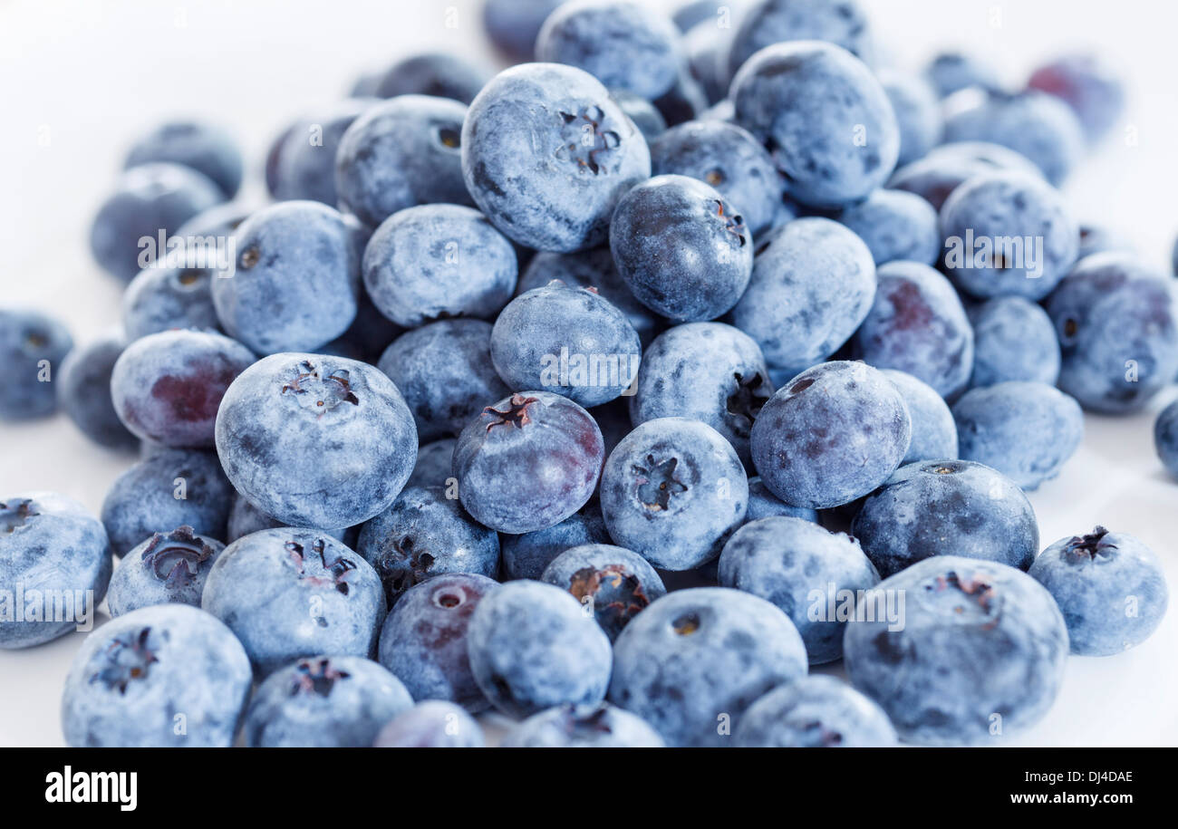 Pile of blueberries - Stock Image