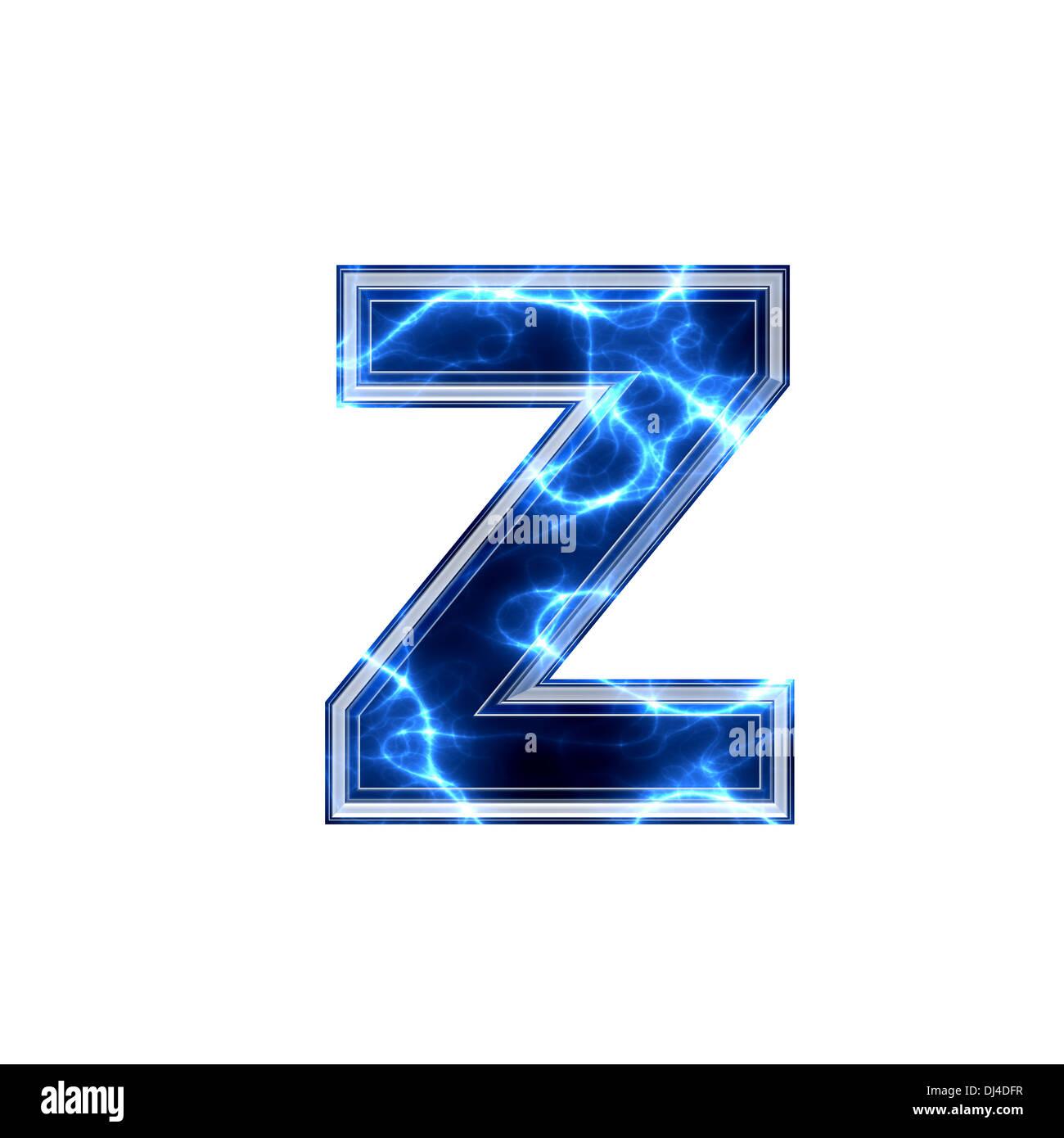 electric 3d letter - z Stock Photo: 62793355 - Alamy