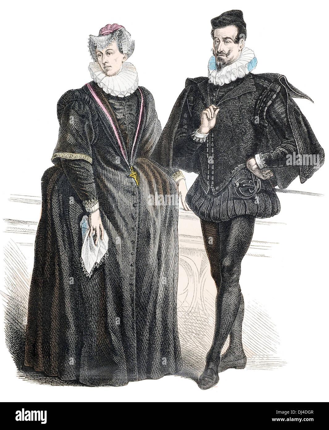 German Patrician 16th Century - Stock Image