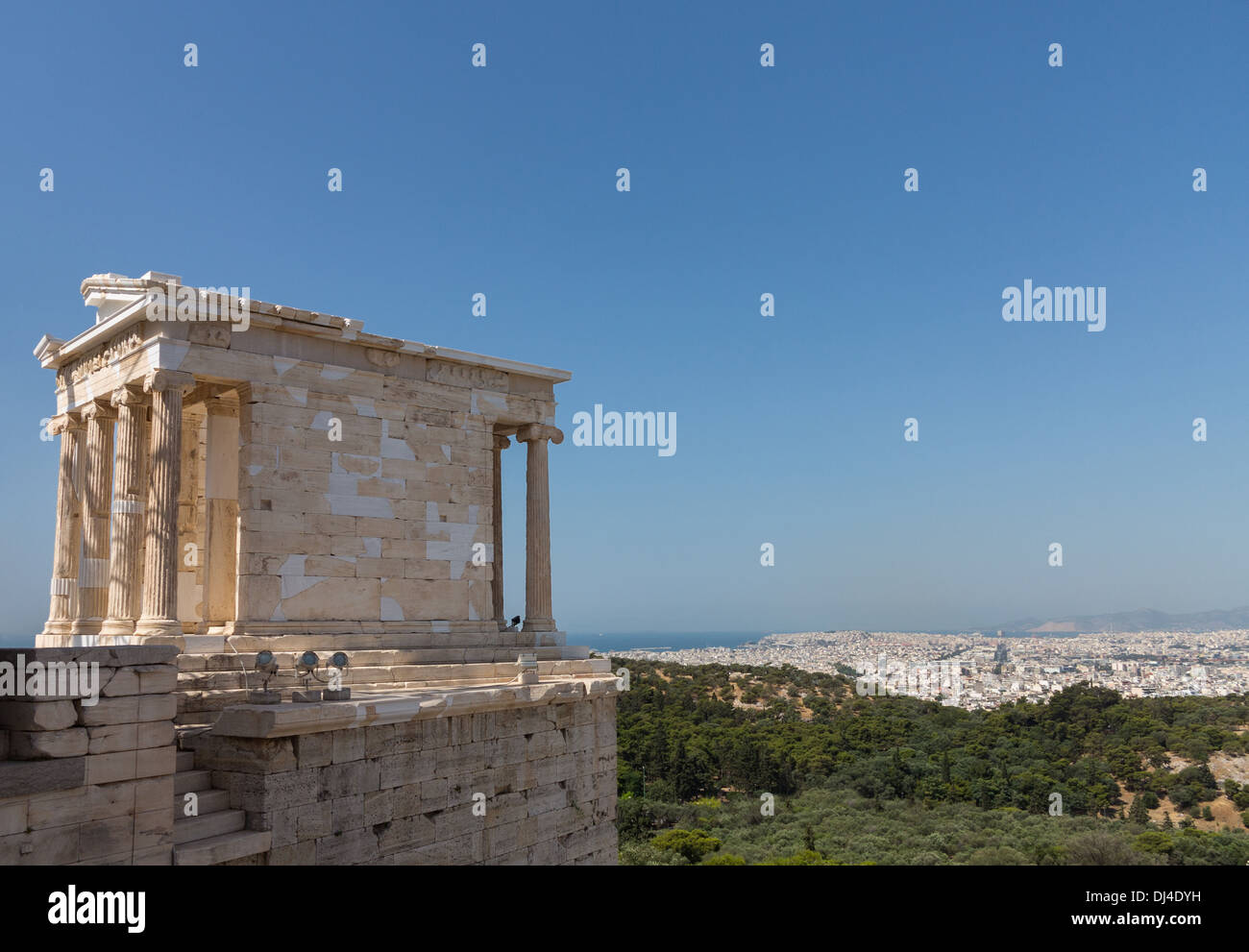 The Temple Of Athena Nike On Acropolis Athens Greece With Ancient
