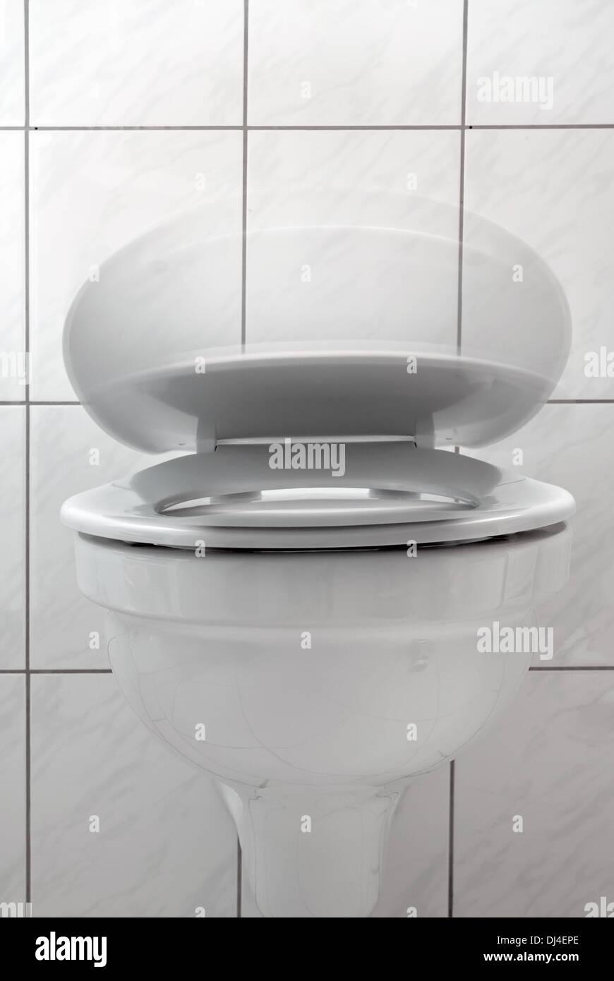 Toilet Lid Stock Photo