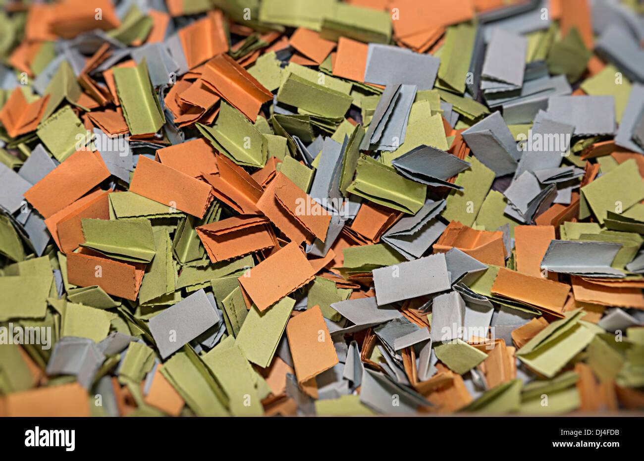folded raffle tickets ready to be drawn