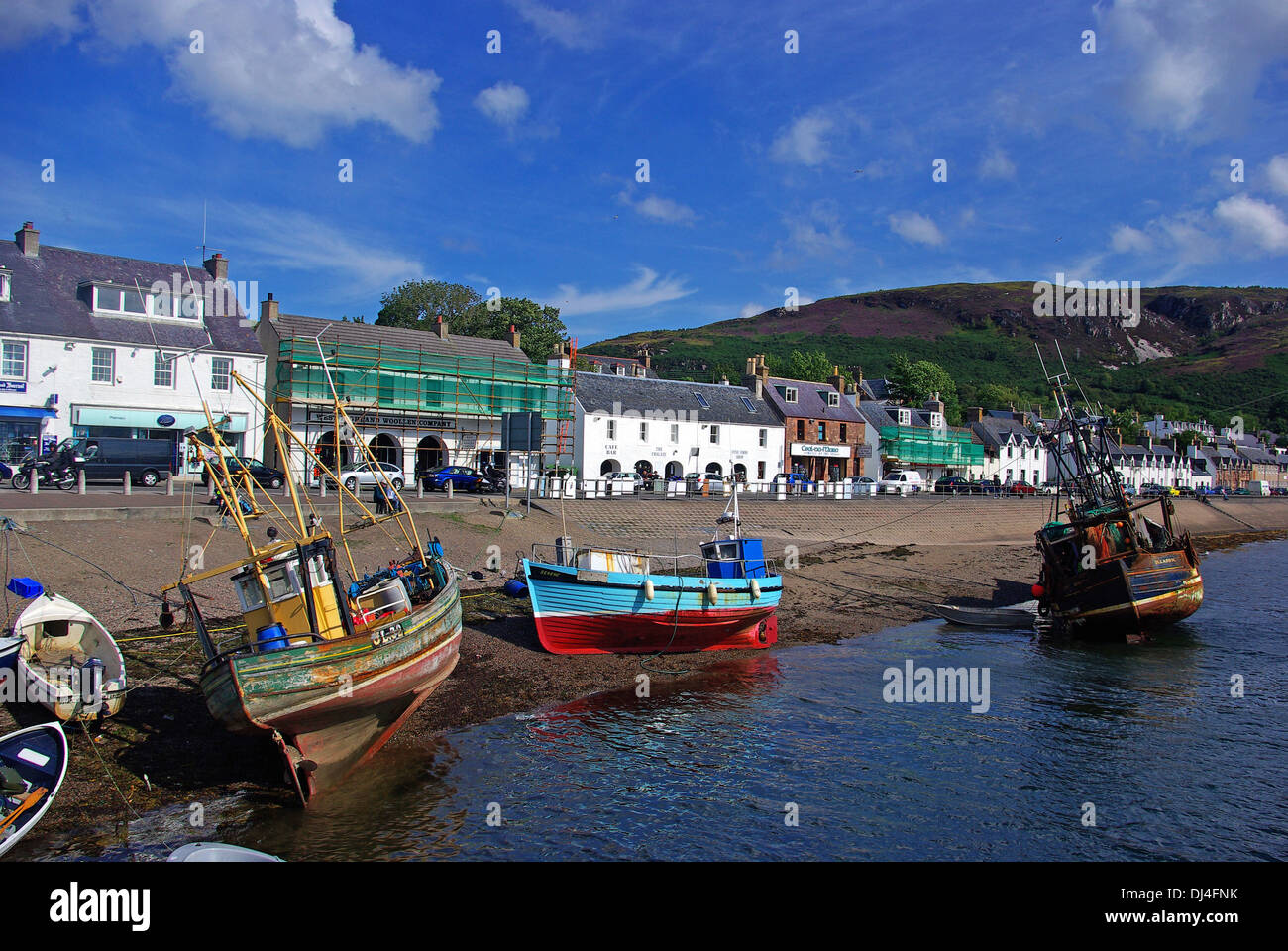 Ullapool harbour - Stock Image