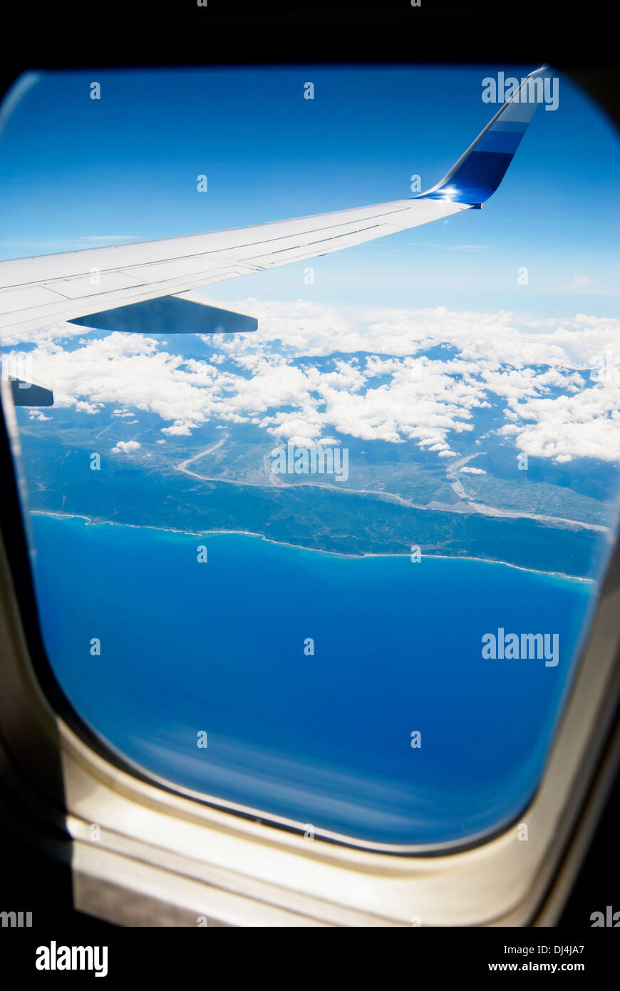 View from airpalne window. Stock Photo