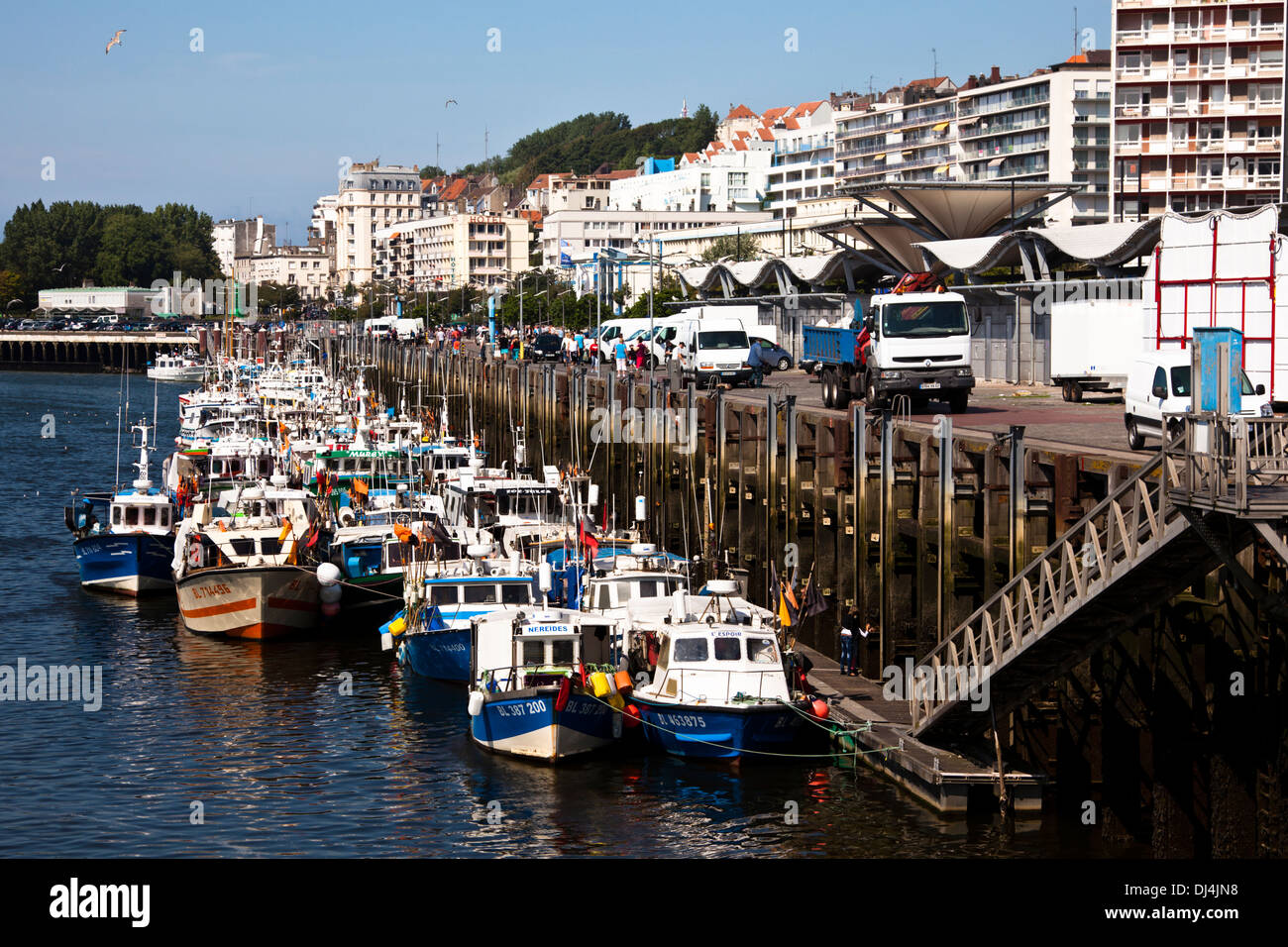 Fishing fleet at Boulogne-sur-Mer - Stock Image