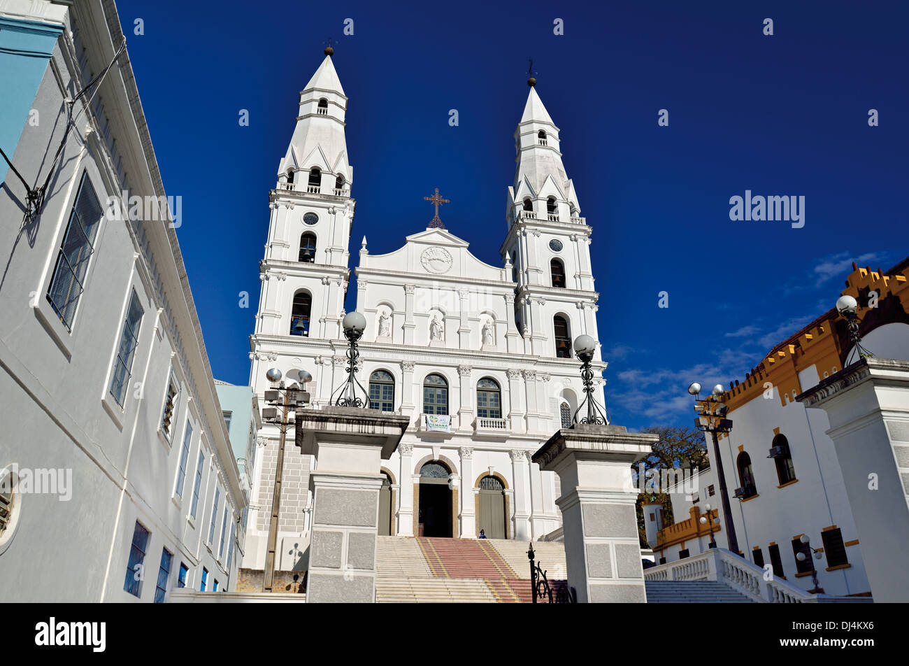 Brazil, Porto Alegre: Historic church Nossa Senhora das Dores - Stock Image