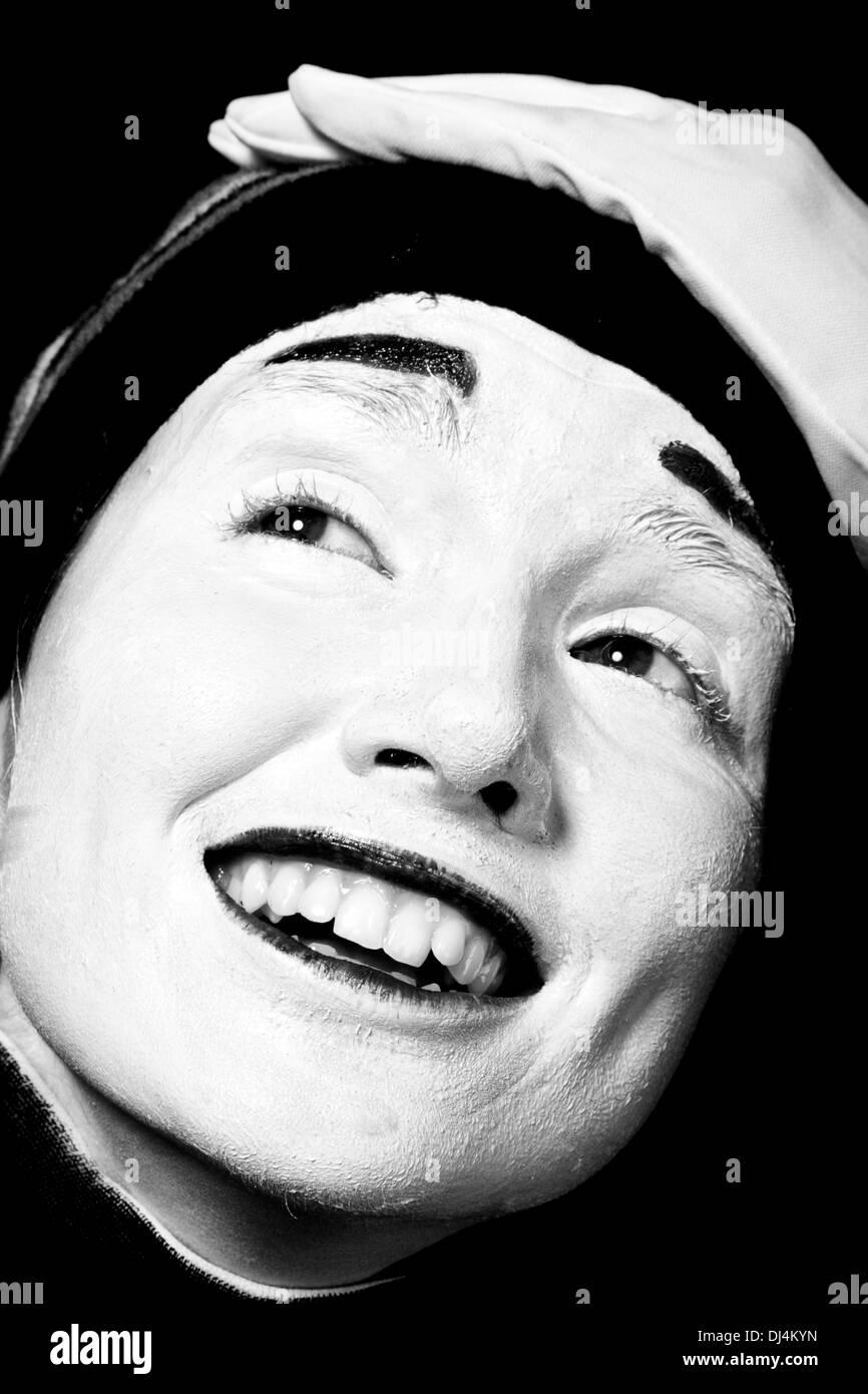 Street mime. - Stock Image