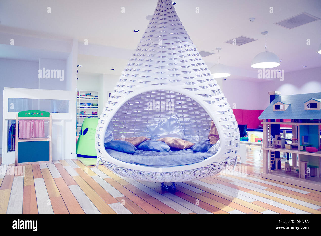 A relaxation pod in a nursery - Stock Image