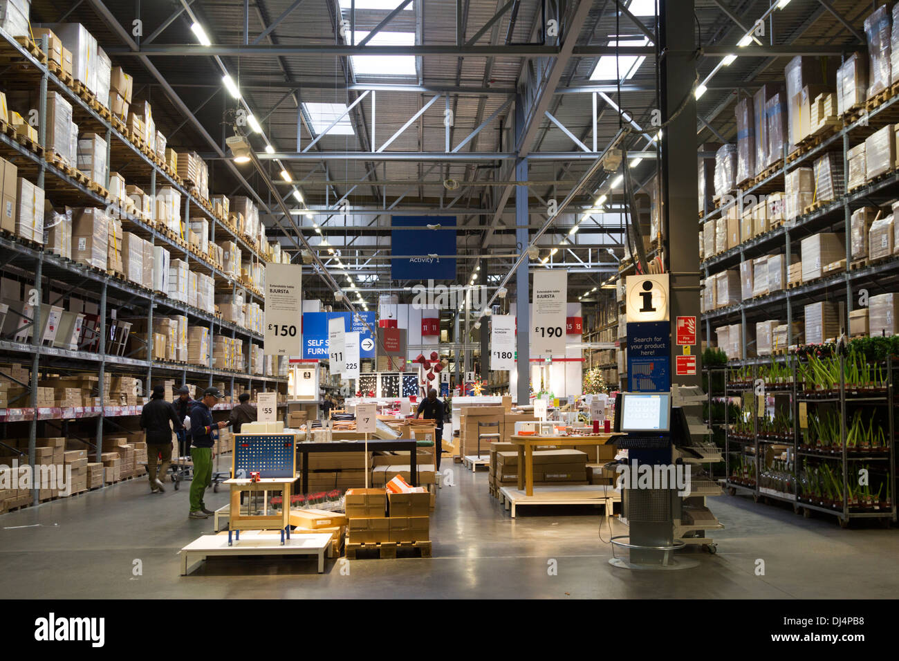 Ikea Self-Service Collection Isles - Edmonton - London - Stock Image