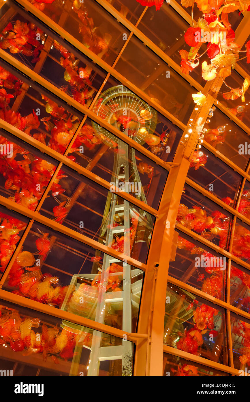 Glasshouse, Chihuly Garden and Glass, Seattle, Washington State, USA ...