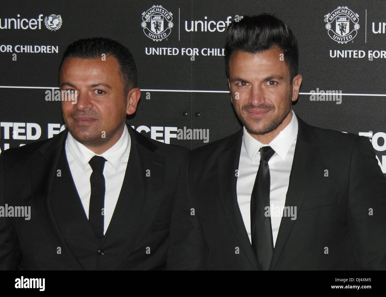 Old Trafford, Manchester, UK.  21 Nov 2013.  Michael and Peter Andre - Arrivals at the United for UNICEF Gala Dinner Stock Photo