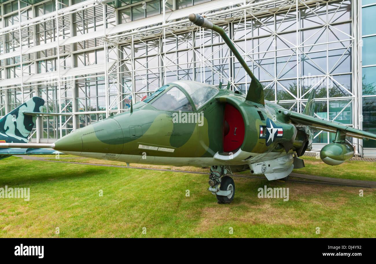 Washington, Seattle, The Museum of Flight, McDonnell Douglas AV-8C Harrier Stock Photo