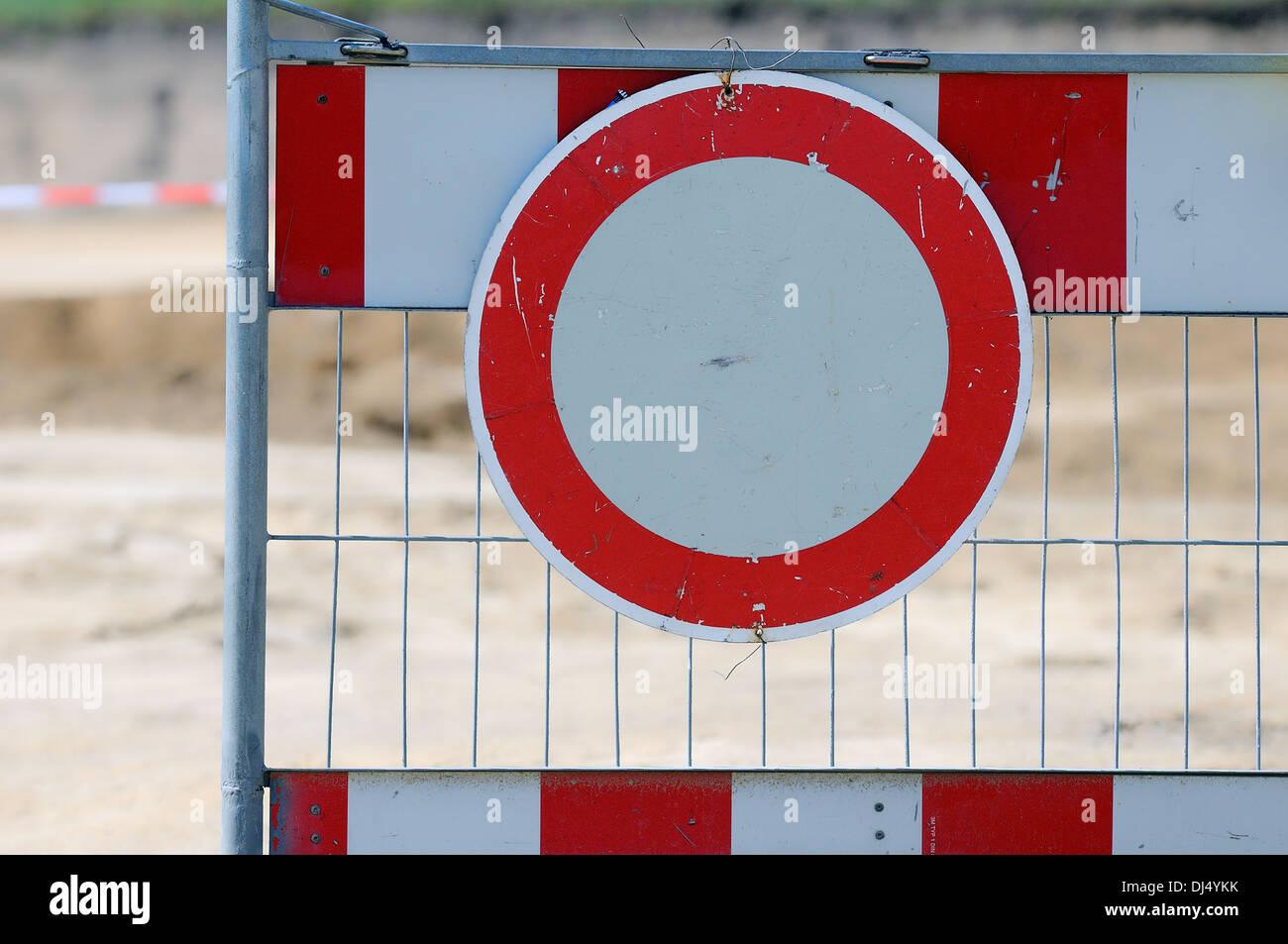 Construction site - blocked Stock Photo